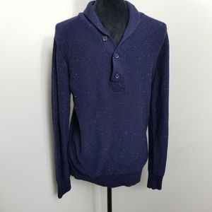NWT GAP Navy Heather Men's Shawl Neck Sweater XS